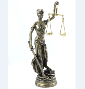 CUSTOM Bronze Finish Figurine Blind Lady Justice Sculpture Greek Goddess Themis Statue