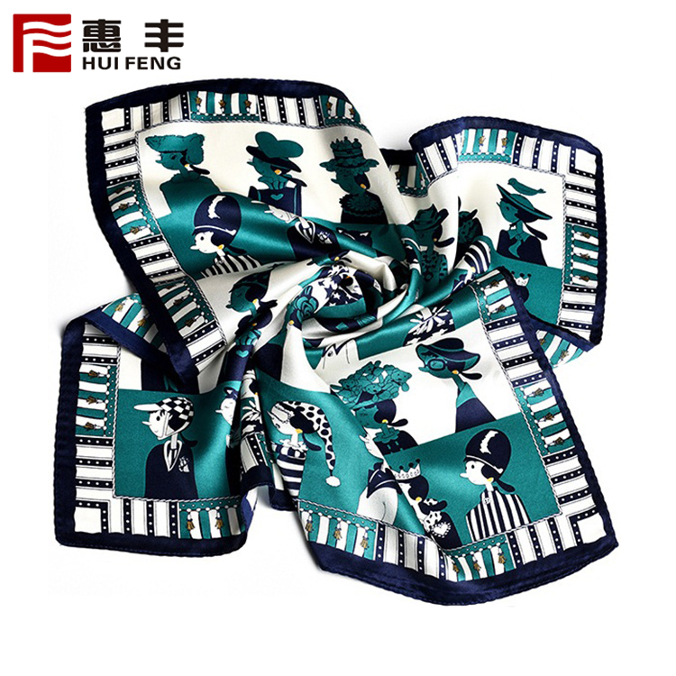 China Factory Wholesale High Quality Custom Silk Screen Scarf Manufacturing ,Custom Scarf Silk