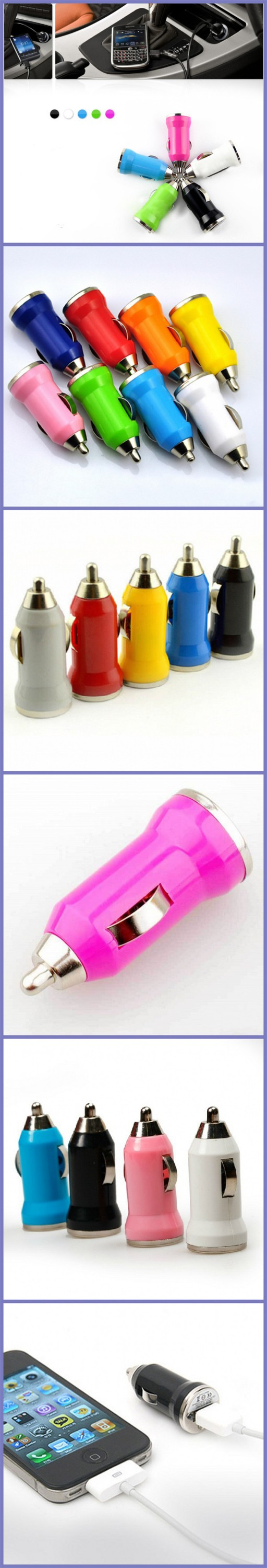 Hot Mini Cheap USB Car Charger with logo print Model JEC-C001