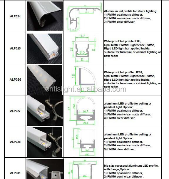 90 Degree Angle F Shape Staircase Aluminum Led Profile With Opal ...