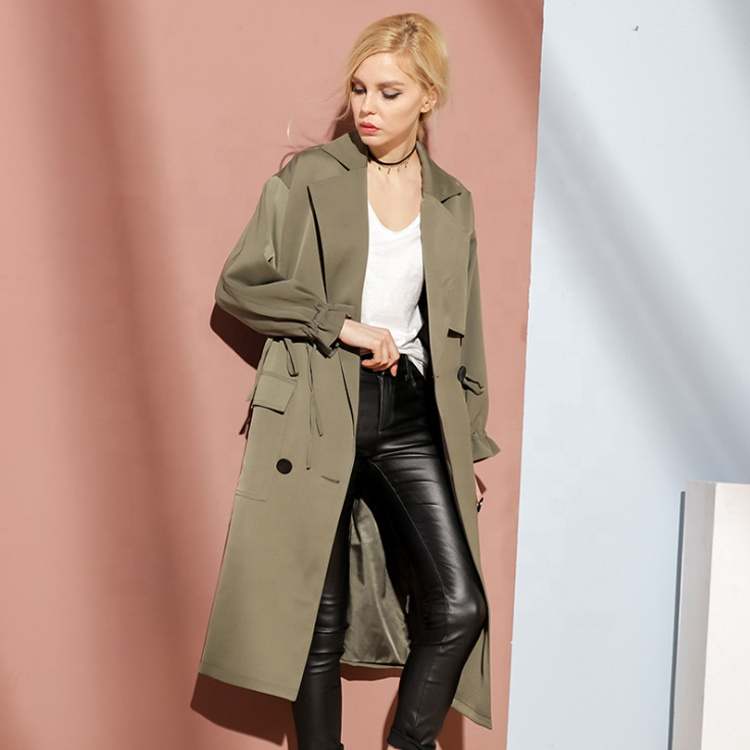 High Quality Solid color <strong>Trench</strong> <strong>Coat</strong> <strong>for</strong> <strong>Women</strong>