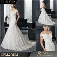 OEM factory lace tulle ball gown wedding dress with sweetheart neckline