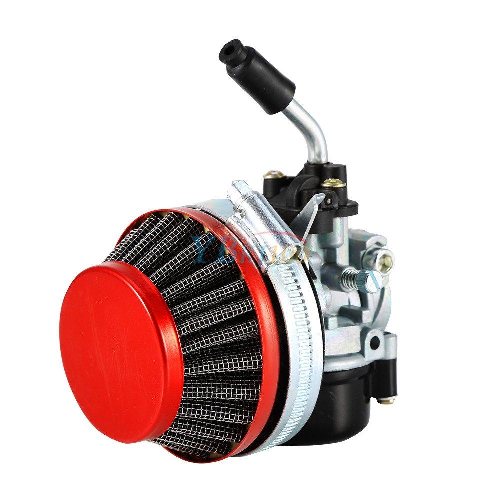 JRL Carburetor Air Filter Fit 2 Stroke 49 70cc 80cc Motorized Push Bike Engine Carb