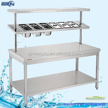 Altura ajustable mesa de trabajo mesa de trabajo de cocina - Mesa de trabajo cocina ...