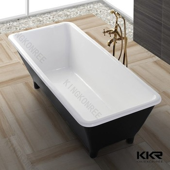 Artificial marble 4 foot bathtub stand alone bathtub buy for Stand alone bath tubs