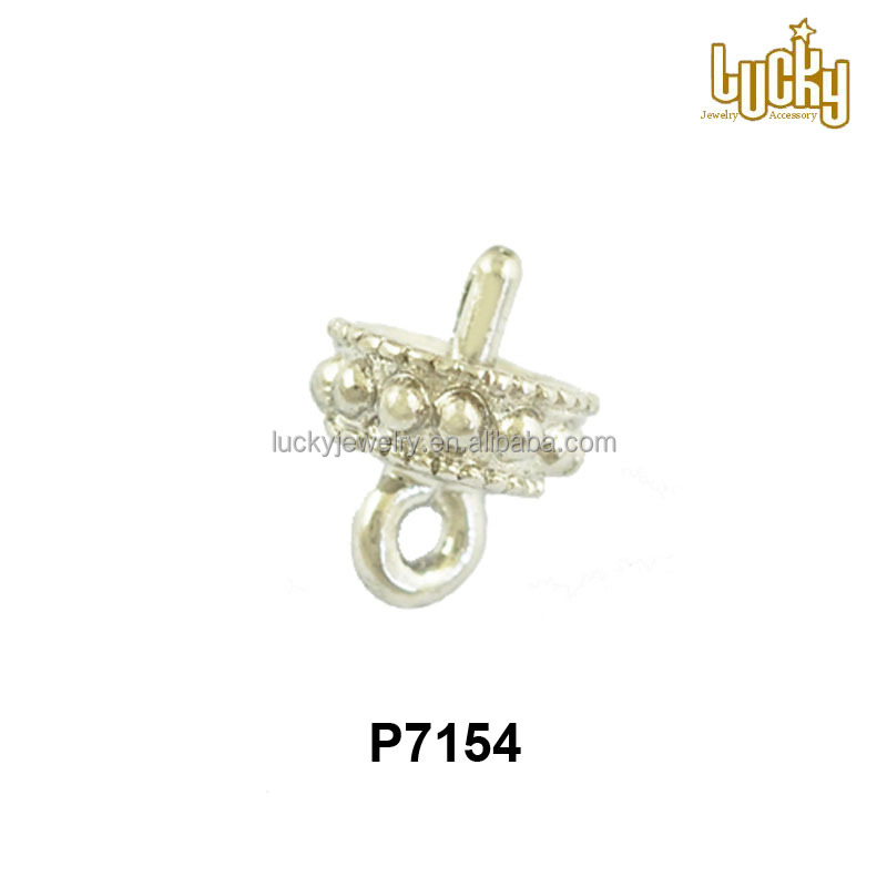 Wholesale super quality jewelry components 925 sterling silver pendant bails for pearls earrings