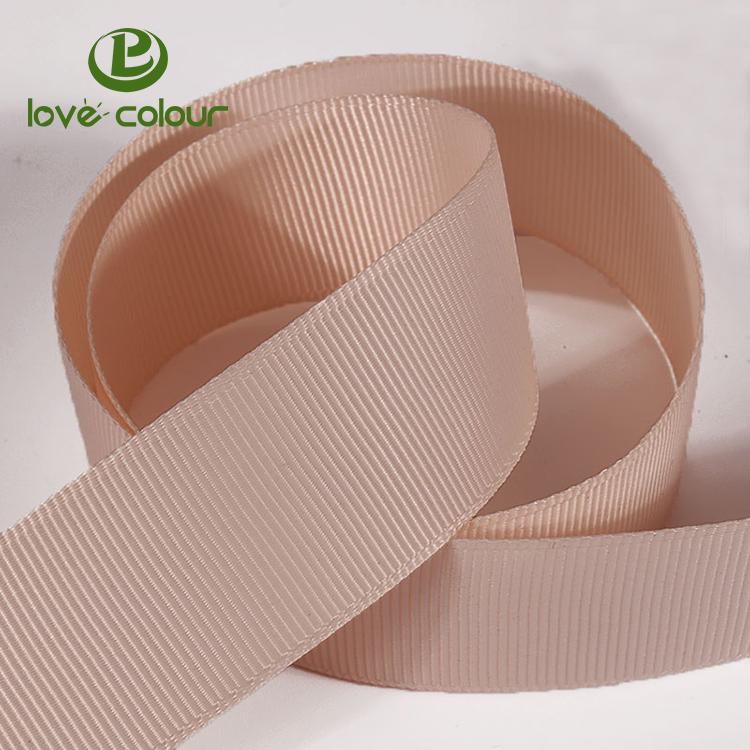 Personalizado 100% poliéster fita de gorgorão roxo para a decoração da embalagem