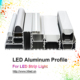 anodize aluminum extrusion profile for led strip decoration light,corner instal led aluminum extrusion