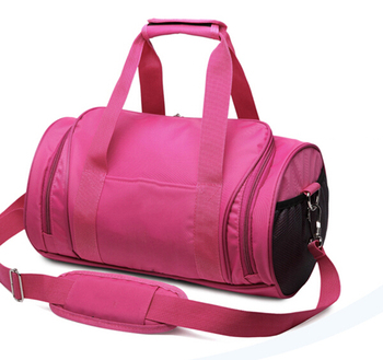 7aaafc975a1ffa China factory fashion women nylon sports duffle bag rolling gym bag with shoe  compartment
