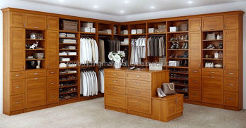 Custom made modern solid wood closets