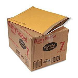 Sealed Air 86048 - Jiffy Padded Self-Seal Mailer, #7, 14 1/4 x 20, Golden Brown, 50/Carton-SEL86048 by Sealed Air