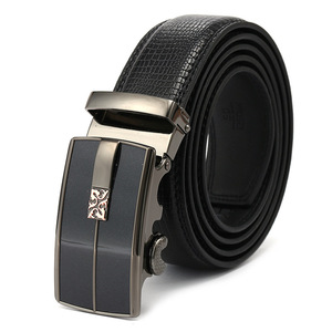 Men's leather alloy automatic buckle belt processing custom belts