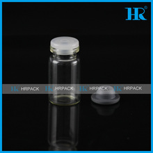 8ml clear pharmaceutical glass vials with butyl rubber stopper