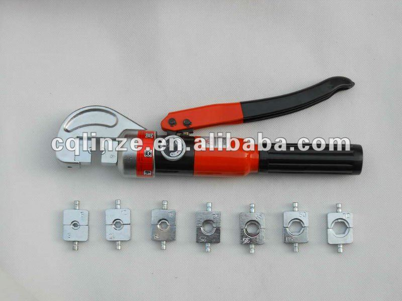 4-70mm 5 ton force hydraulic hand wire cable crimper kit wire rope crimping tools