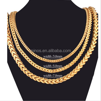 b1fb87b442455 2016 New Vintage Stainless Steel 18k Gold Plated Cuban Link Chain Necklaces  Men Fancy Jewelry Fashion Gifts - Buy French Fashionable Neckalce Chain ...