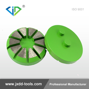 4-Inch 10 Triangles Diamond Metal Polishing Pads Abrasive Disc Diamond Floor Tools for Marble Concrete Granite