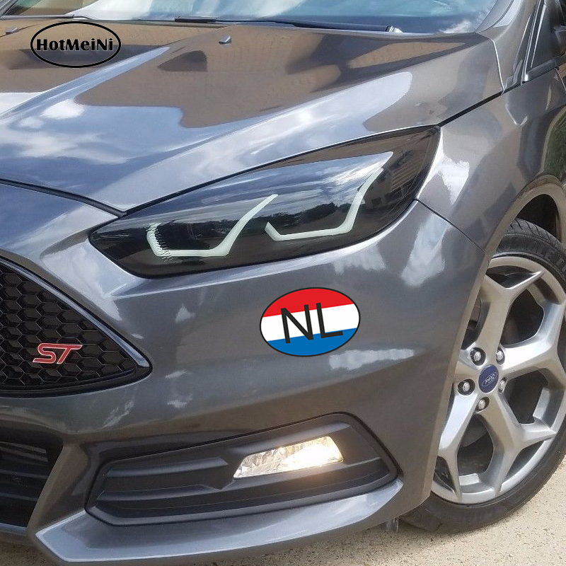 HotMeiNi 13 x9 1cm Car Styling Nl Netherlands Country Code Oval With Flag  Car Sticker Waterproof Bumper And Windows Accessories