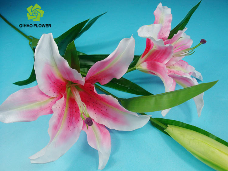 Single Stem Artificial Tiger Lily Flower For Wedding Decoration ...