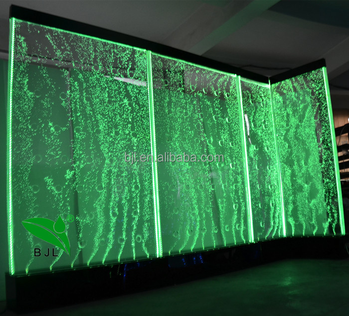 Modern indoor water features led water bubble wall for events and wedding decoration