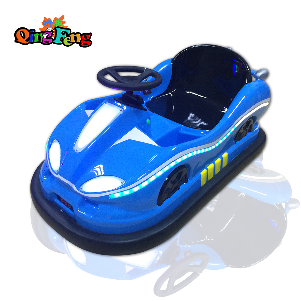 Qingfeng 2017 carton fair 4 colours upgrade happy shake kids ride on bumper car kiddie ride battery bumper car