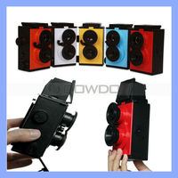 Science DIY Toy Retro Camera Film 35mm Twin Lens Reflex TLR Camera DIY Lomo Camera