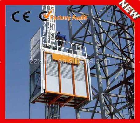 Low price high quality electric 2*1000kg building construction materials lift