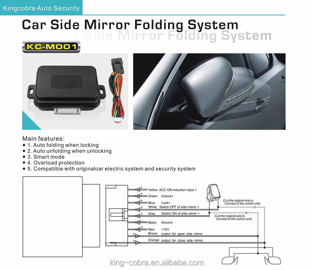 Car Asssesory Oem Automatic Side Mirror Folding System