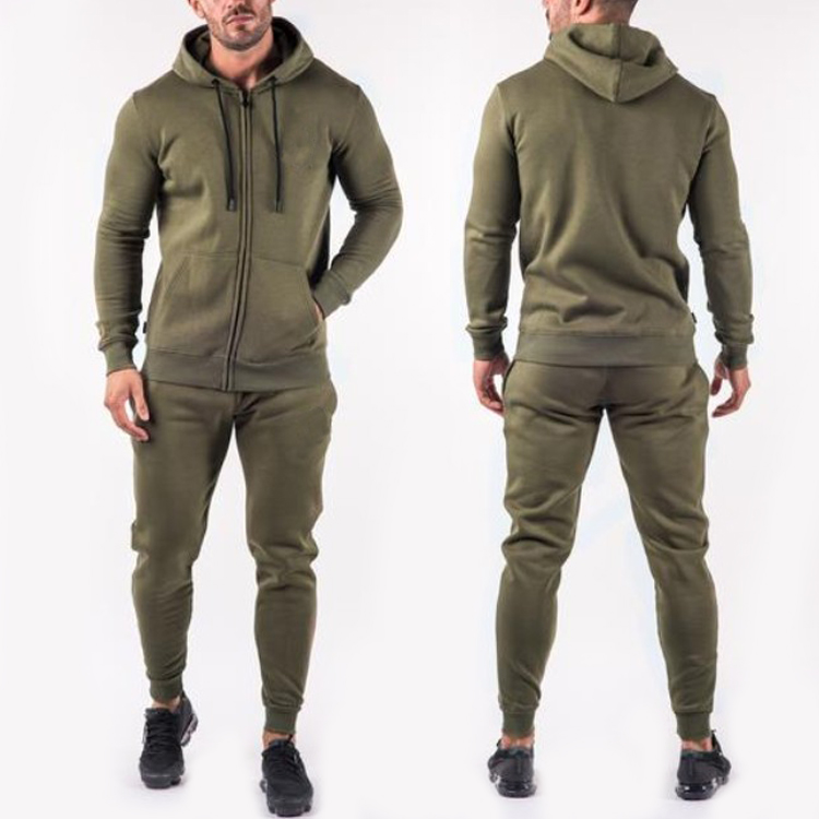 Tracksuits tuỳ patches bông skinny sweatsuit cho nam giới
