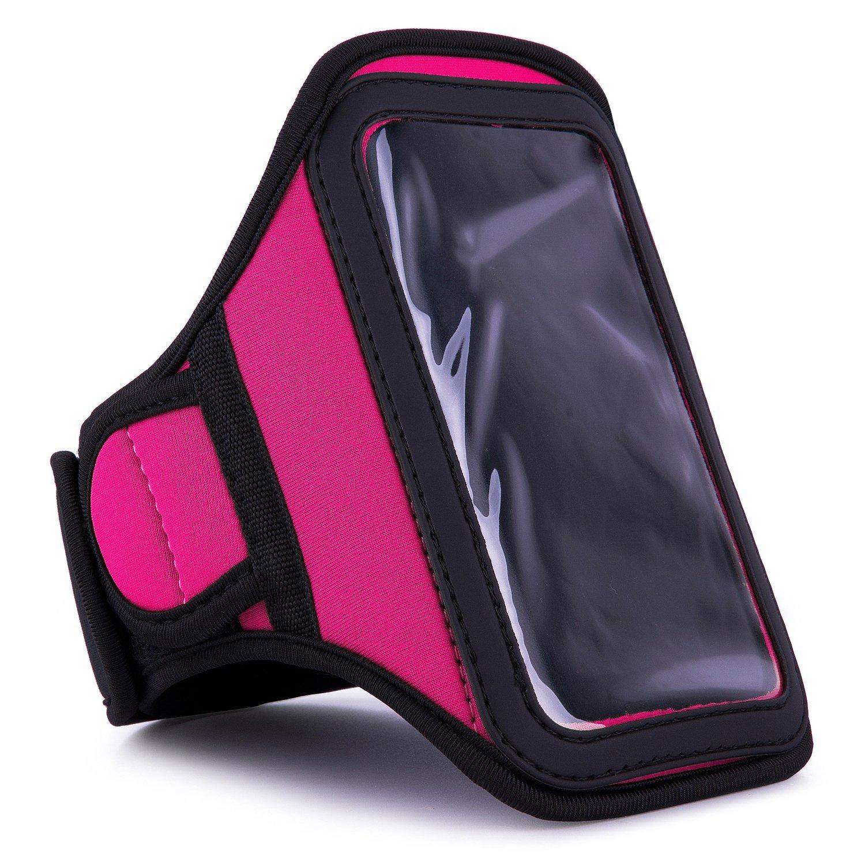 VanGoddy Magenta Sweat-proof Neoprene Armband for Motorola Moto M / Moto Z / E3 / Z Droid / Z Force / Z Play / Z Play Droid / Droid MAXX , TURBO