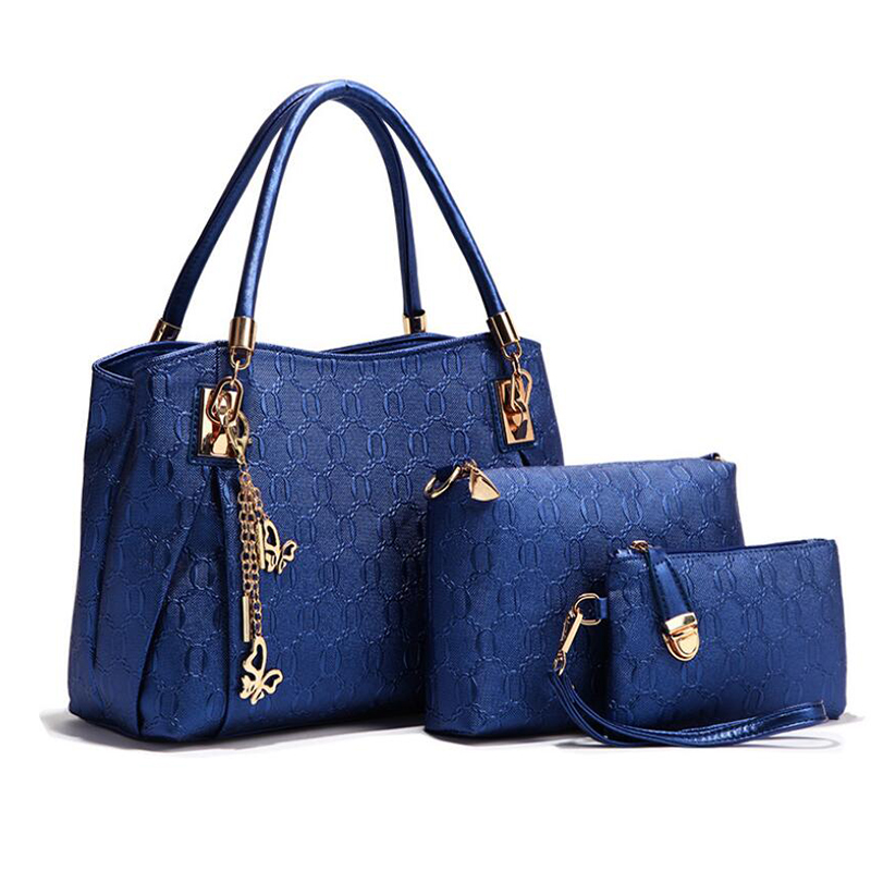 3 pieces per set new female tote bag fashion <strong>handbags</strong> for women shoulder bag