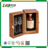 Wine box--Wooden crafts Empty 6 Bottle Wooden Wine Boxes single slide wooden wine box