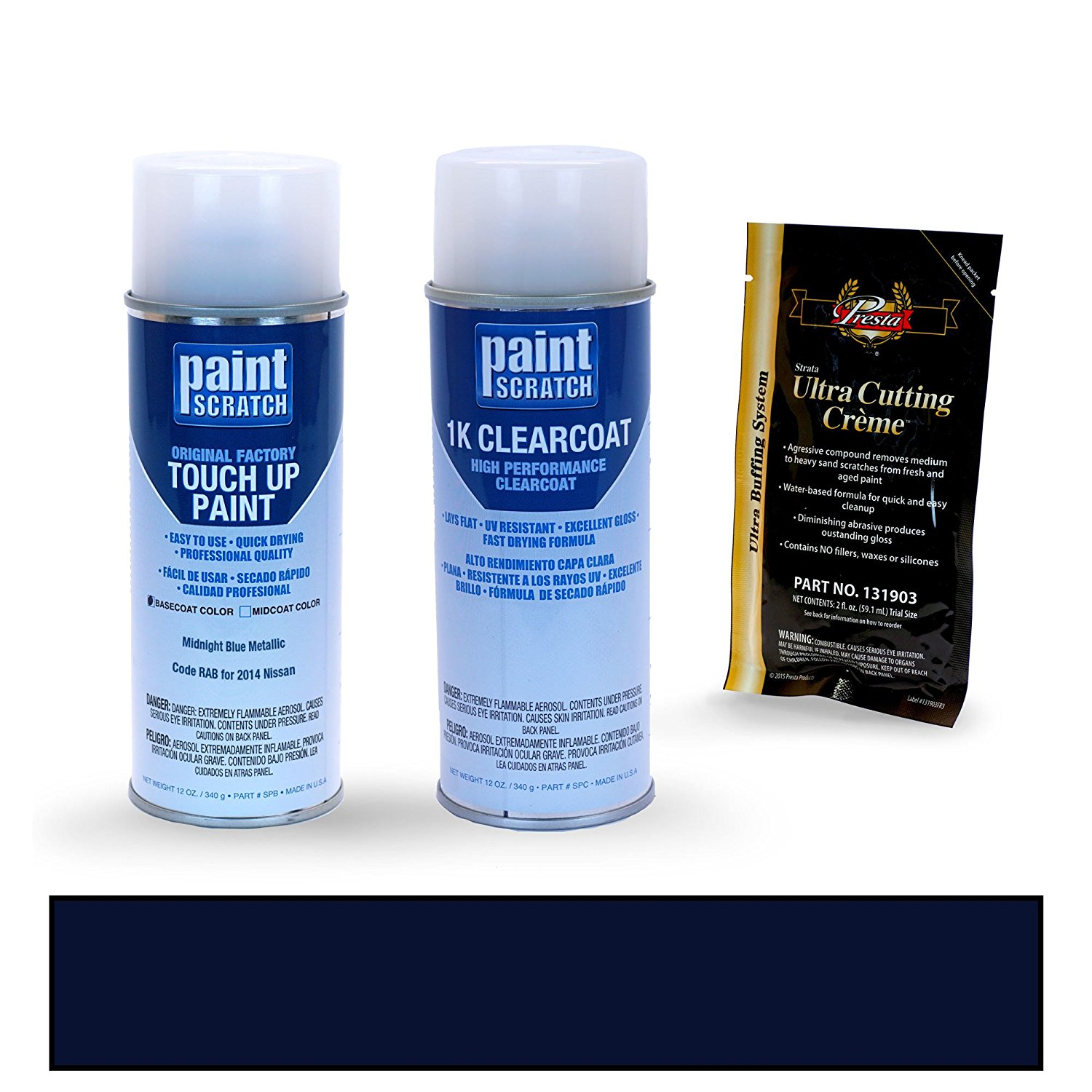 2014 Nissan Altima Midnight Blue Metallic RAB Touch Up Paint Spray Can Kit by PaintScratch - Original Factory OEM Automotive Paint - Color Match Guaranteed