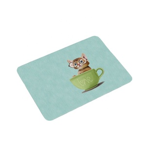 Wholesale creative rectangle overlock pink marble leather gaming mousepad