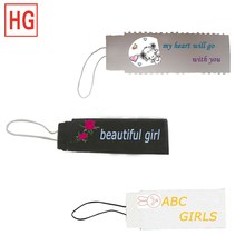 China jewelry label string hang tag,clothing key name price tag