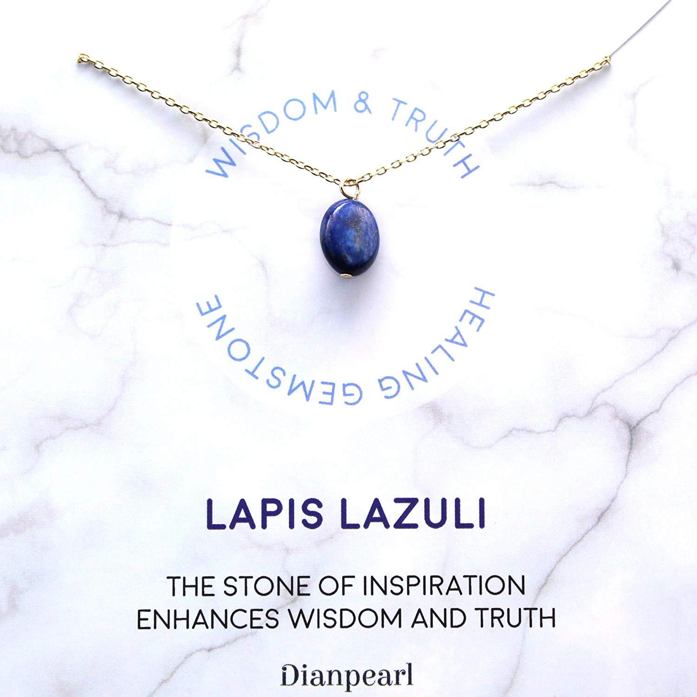 [Premium Gemstone] Lapis Lazuli necklace, Best friend necklace, gemstone Necklace, friendship necklace, Gold dainty necklace, February birthstone, natural stone, healing crystal, Lapis Lazuli