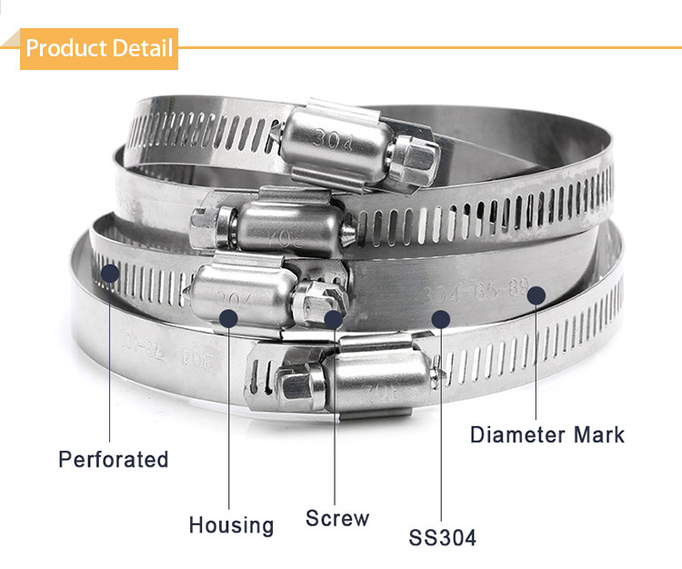 American style hand shank hose clamp