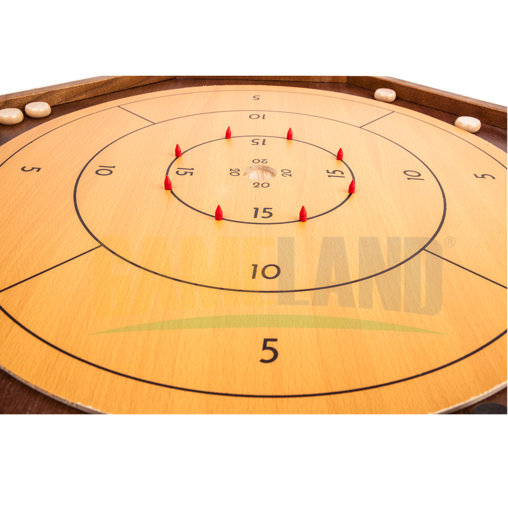 2 In 1 Houten Crokinole Game