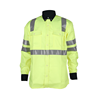 two tone safety drill FR shirt for industry worker