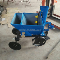 Factory export manual walking tractor drive 1 row potato planter