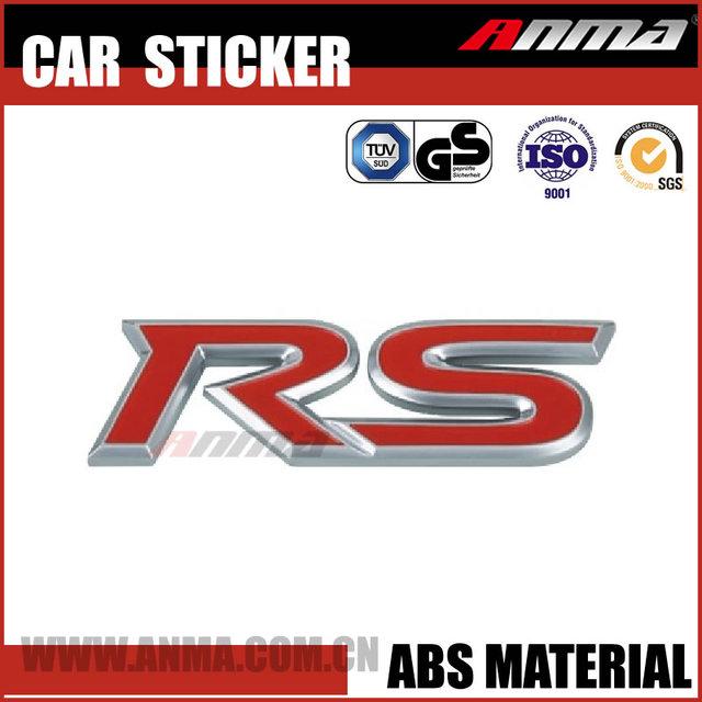 Customize car roof pvc sticker rs logo badge