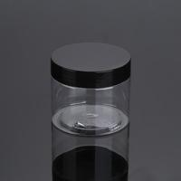 30ml 50ml 100ml 120ml 200ml 250ml 500ml cosmetic packaging clear amber black pet plastic cream jar with plastic lid