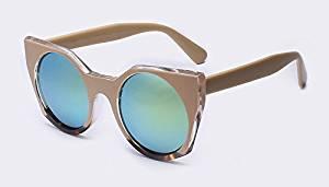 AOFLY latest fashion sunglasses glass lens cat eye sunglasses, vintage style R. Etro Sunday UV400 oculos glasses with colorful shade.