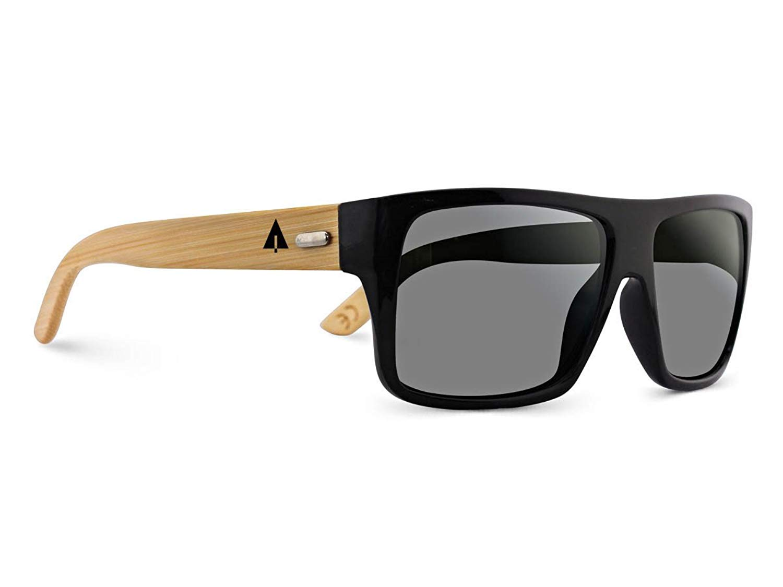 6e815b12a43 Get Quotations · TREEHUT Wooden Bamboo Sunglasses Temples Classic Aviator  Retro Square Wood Sunglasses