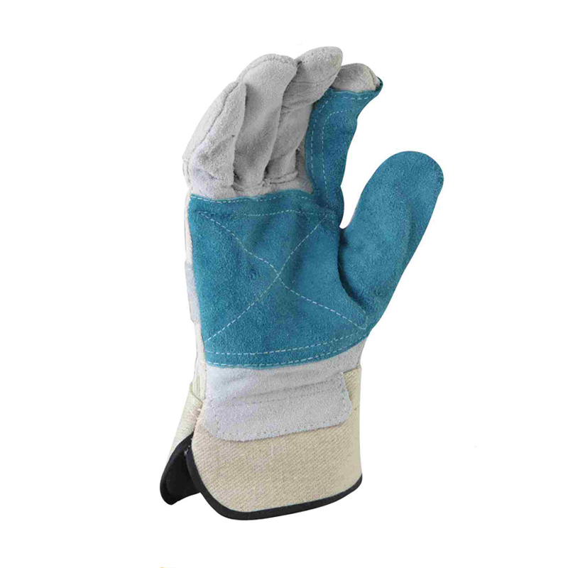 Personal protective equipment cow split leather working gloves