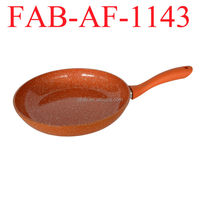 Orange Forged Healthy And Discount Marble Coating Frying Pan