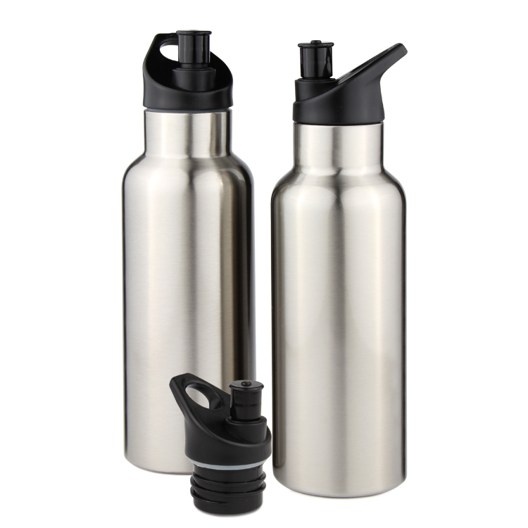 Hot Selling new design Outdoor Leak Proof Wide Mouth Vacuum Insulated Stainless Steel Sport Bottle With Sport Cap and Handle