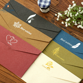 colorful beautiful custom art paper envelope with logo printed