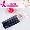 newest nail brush pen , kolinsky nail art brush , 15pcs professional nail brushes set