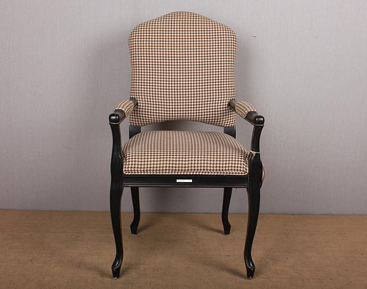 Antiguo estilo franc s coj n extra ble silla apoyabrazos for Sillas roble para comedor
