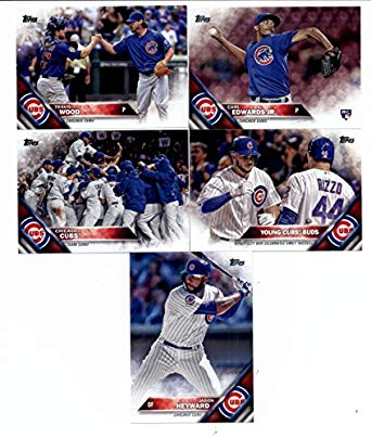 2016 Topps Series 2 Baseball Chicago Cubs Team Set of 11 Cards SEALED in Protective Snap Case: Jason Heyward(#371), David Ross(#441), Ben Zobrist(#447), Young Cubs Buds(#453), John Lackey(#470), Chicago Cubs(#474), Hector Rondon(#481), Travis Wood(#507), Addison Russell(#562), Carl Edwards